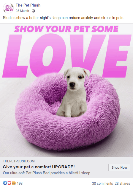 Static Ad by The Pet Plush